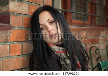 Girl in depression and frustration