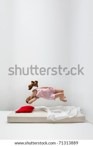 Girl in levitation