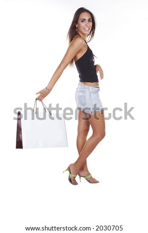 girl in shopping