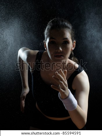 girl in sport on the night