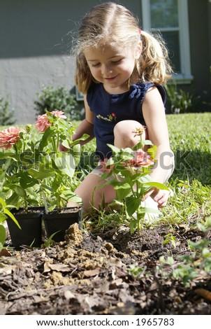 Girl in sunny garden 06