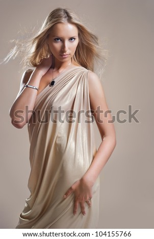 girl in the drapery