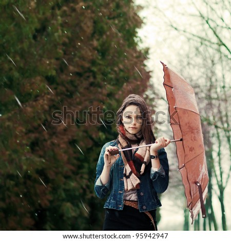 Girl in the Rain