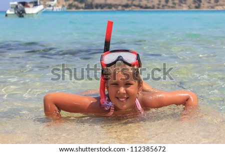 Girl in the sea