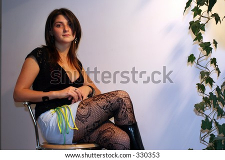 Girl in Tights - stock photo