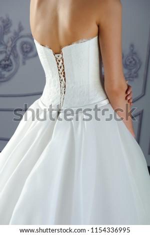 girl in wedding dress, wedding dress, White dress