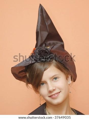 Girl in wizzard hat