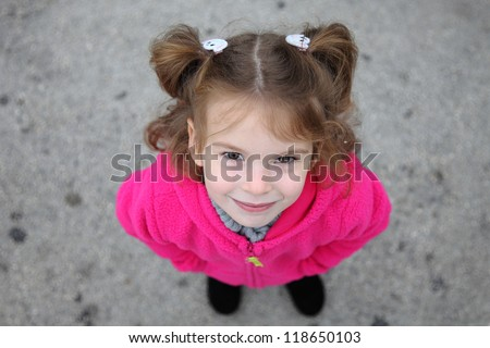 Girl looking up
