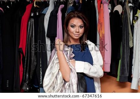 Girl near the closet