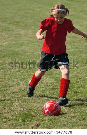 Girl on Soccer Field 34
