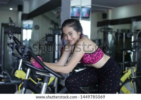 girl on treadmill. the girl on the treadmill.
