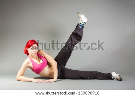 girl performing exercises