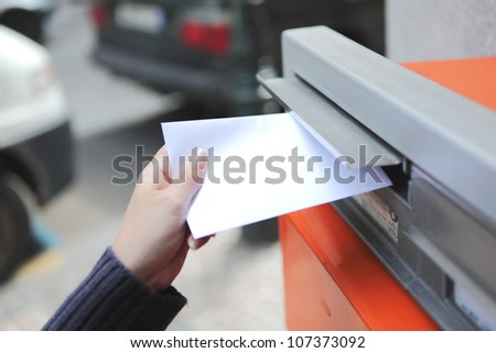 girl posting a letter in Czech Republic
