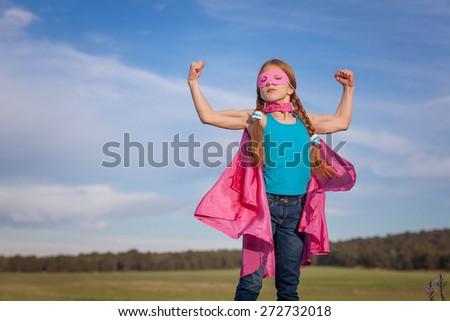 girl power super hero confidence in kids or children