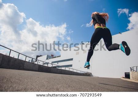 girl run sport fitness active #707293549