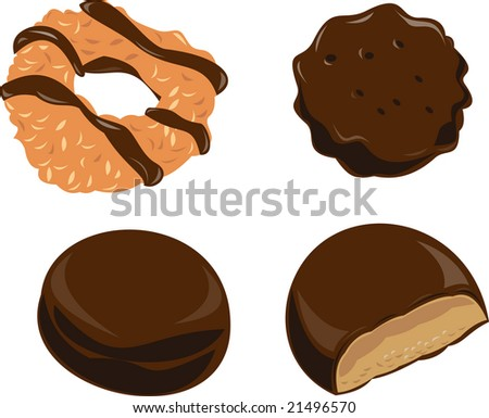 Girl scout cookies - stock photo