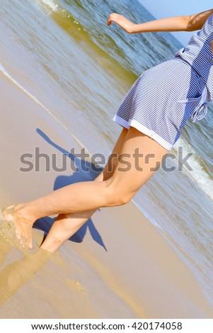 Girl sea dance summer #420174058