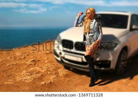 Girl, sexually, sexy, woman, female, auto, automobile, bmw, automobile, model, sexy, blonde, nature, fashion, style, relax, mood, emotions,  #1369711328