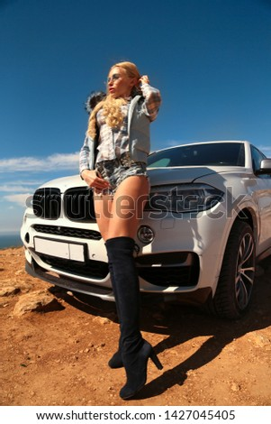 Girl, sexually, sexy, woman, female, auto, automobile, bmw, automobile, model, sexy, blonde, nature, fashion, style, relax, mood, emotions,  #1427045405