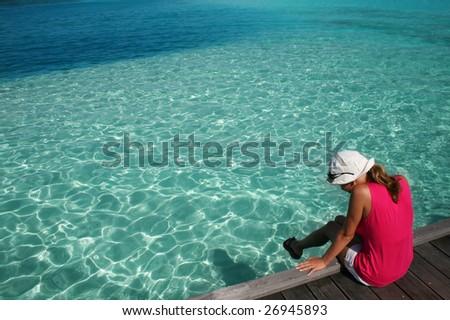 girl siting on the beach