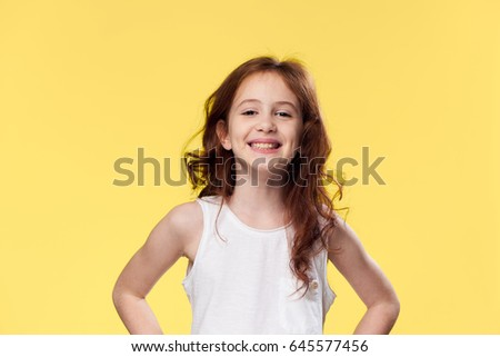 Girl smile, sweet girl smiling, joyful girl smile