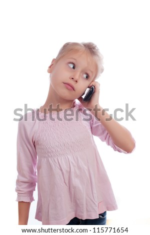 Girl speaks on a mobile