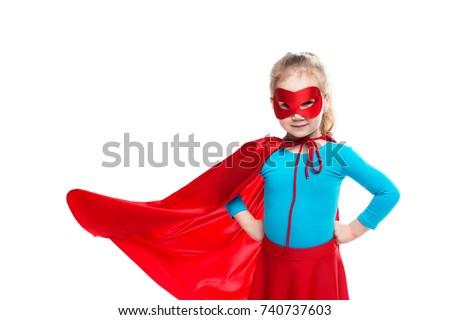 girl superhero. concept of...