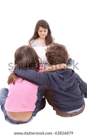 girl tell story kids