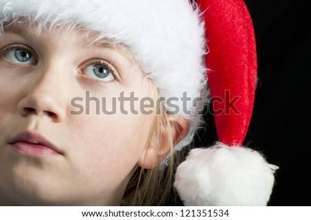 girl thinking of christmas
