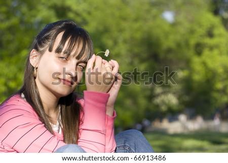 Girl thinking of her boyfriend