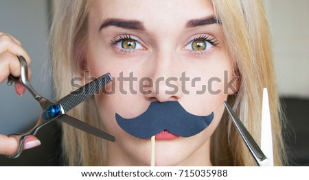 Girl trying to get rid of facial hair