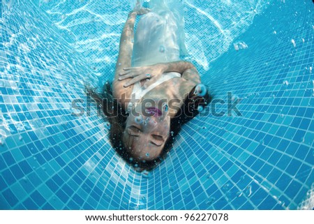 Stock Girl Underwater In A Swimming Pool