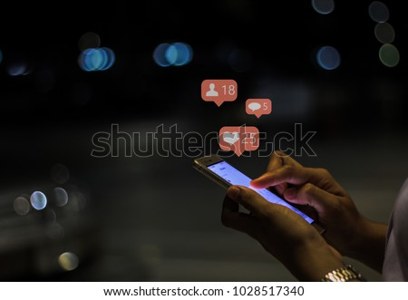 Girl using mobile smart phone #1028517340