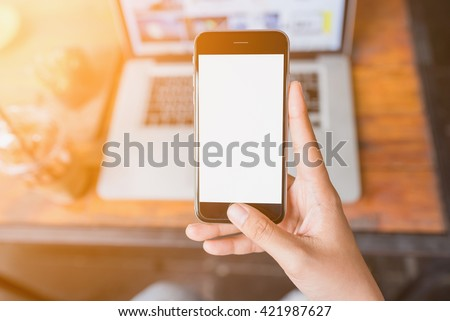 girl using smartphone in cafe