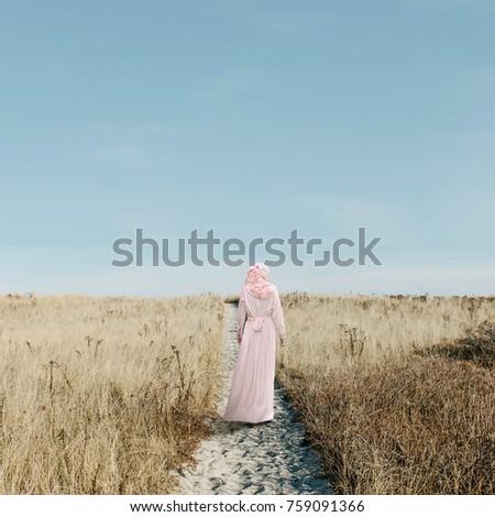 Girl Walking Alone #759091366