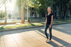 girl walking on the street
