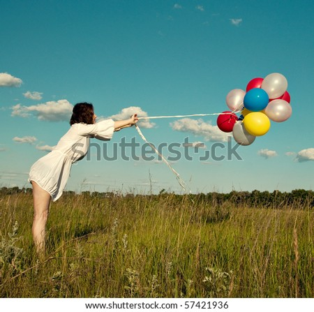 Girl whith balloons