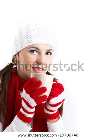 girl with a cup of hot tea