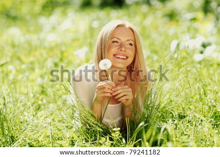 girl with a dandelion