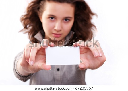 Girl with a gift card
