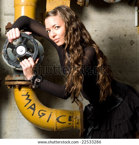 Girl with a valve