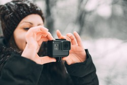 Girl with Action Camera