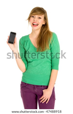 Girl with cell phone