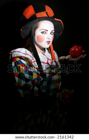 clown makeup designs. clown makeup in funcy heat