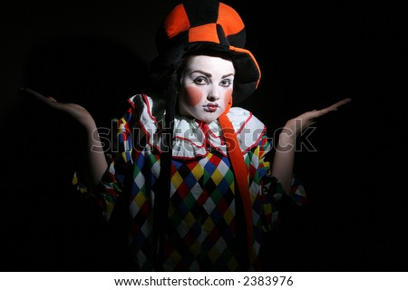 clown makeup in funcy heat