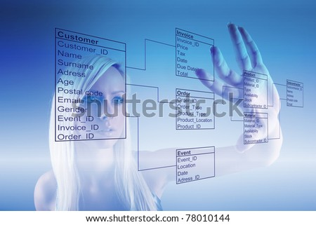 Girl with Database Tables