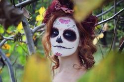 girl with Halloween makeup