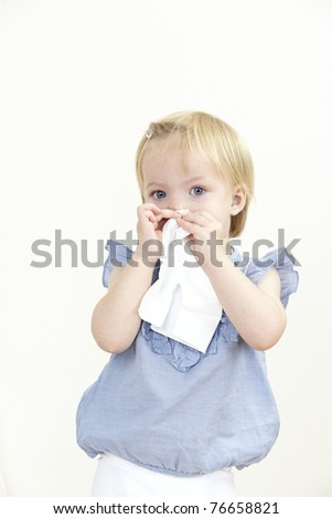 girl with  handkerchief
