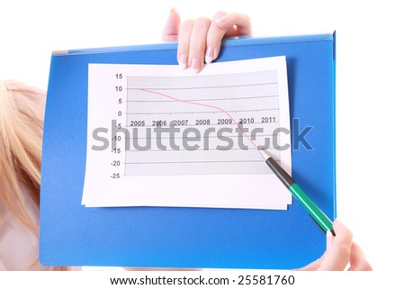 Girl with negative chart
