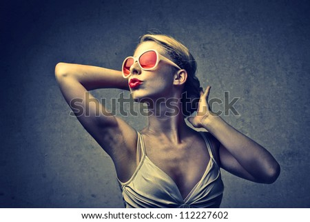 Girl with orange sunglasses